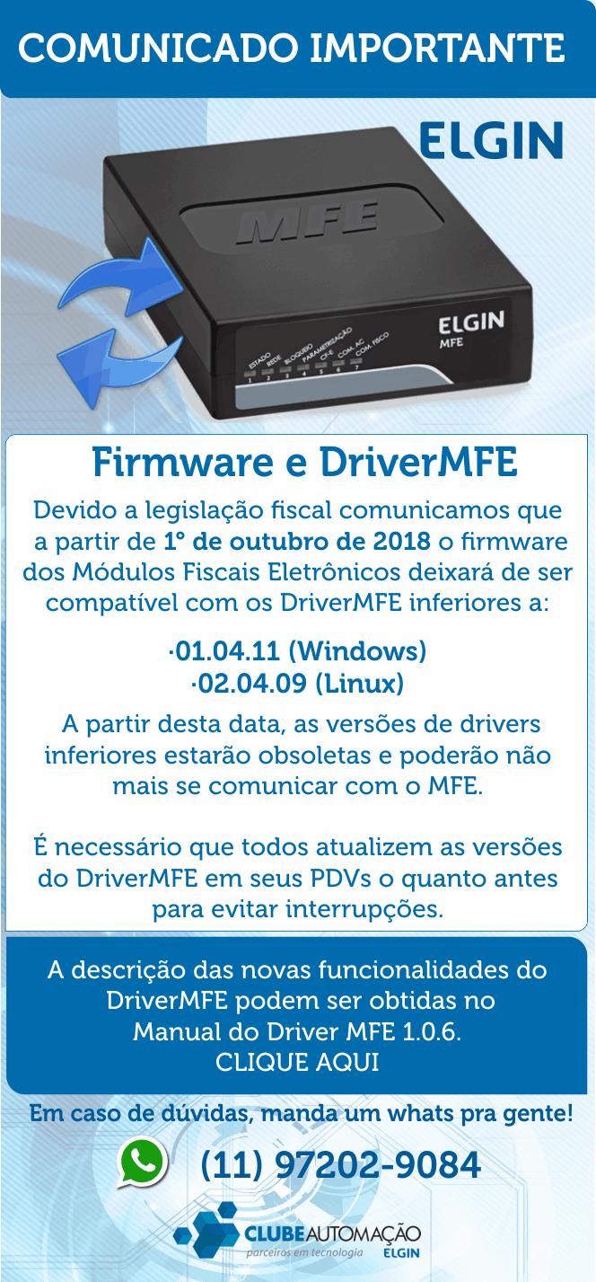 Firmware e Driver MFE
